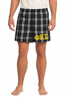 Phi Kappa Sigma Flannel Boxer Shorts