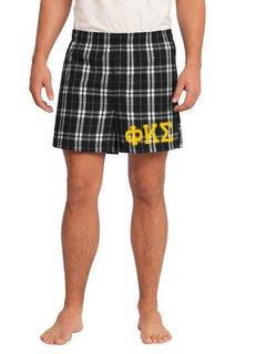 Phi Kappa Sigma Flannel Boxer Shorts