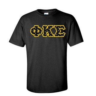Phi Kappa Sigma Fraternity Crest - Shield Twill Letter Tee