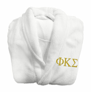 Phi Kappa Sigma Fraternity Lettered Bathrobe