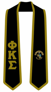 DISCOUNT-Phi Kappa Sigma Greek 2 Tone Lettered Graduation Sash Stole