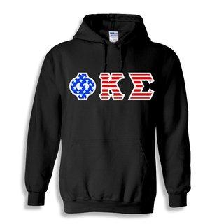 DISCOUNT-Phi Kappa Sigma Greek Letter American Flag Hoodie