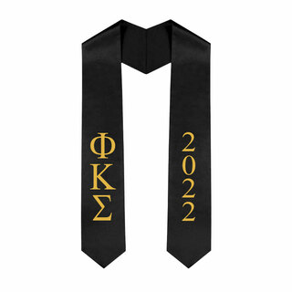 Phi Kappa Sigma Greek Lettered Graduation Sash Stole With Year - Best Value