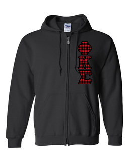 "Phi Kappa Sigma Heavy Full-Zip Hooded Sweatshirt - 3"" Letters!"