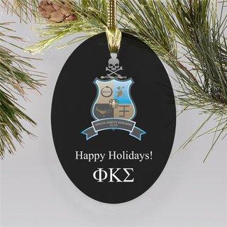 Phi Kappa Sigma Holiday Color Crest - Shield Ornament