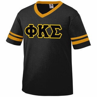 DISCOUNT-Phi Kappa Sigma Jersey With Greek Applique Letters