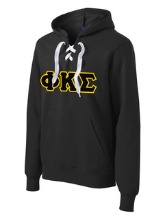 DISCOUNT-Phi Kappa Sigma Lace Up Pullover Hooded Sweatshirt
