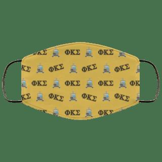 Phi Kappa Sigma Letter Crest Face Masks