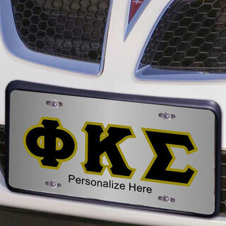 Phi Kappa Sigma Lettered License Cover
