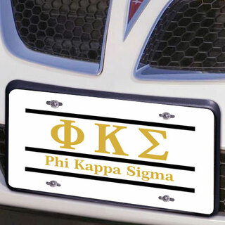 Phi Kappa Sigma Lettered Lines License Cover
