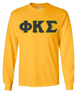 Phi Kappa Sigma Lettered Long Sleeve Tee- MADE FAST!