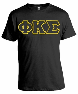 Phi Kappa Sigma Lettered T-shirt - MADE FAST!
