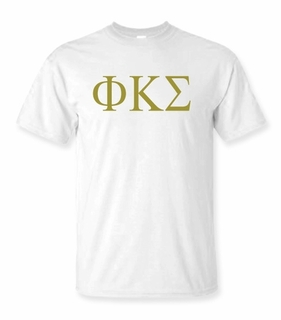 Phi Kappa Sigma Lettered Tee - $9.95! - MADE FAST!