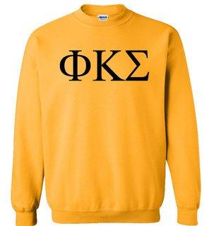 Phi Kappa Sigma Lettered World Famous Greek Crewneck