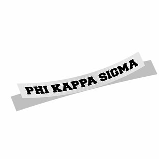 Phi Kappa Sigma Long Window Sticker