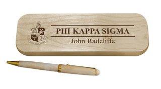 Phi Kappa Sigma Maple Wood Pen Set