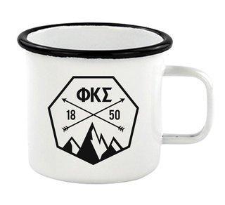 Phi Kappa Sigma Metal Camping Mug
