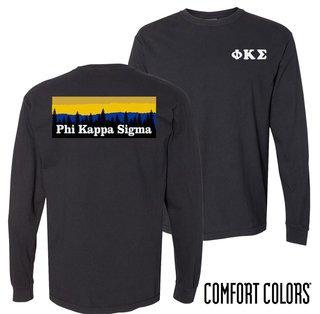 Phi Kappa Sigma Outdoor Long Sleeve T-shirt - Comfort Colors