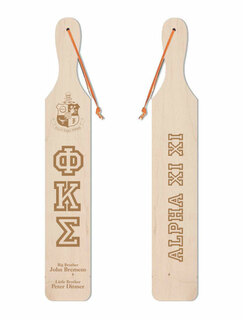 Phi Kappa Sigma Old School Wood Greek Paddle