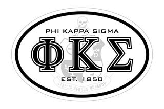 Phi Kappa Sigma Oval Crest - Shield Bumper Sticker - CLOSEOUT