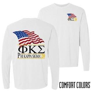 Phi Kappa Sigma Patriot Long Sleeve T-shirt - Comfort Colors