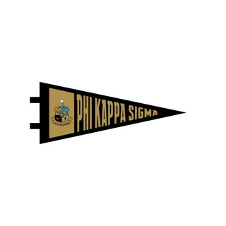 "Phi Kappa Sigma Pennant Decal 4"" Wide"