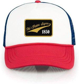Phi Kappa Sigma Red, White & Blue Trucker Hat