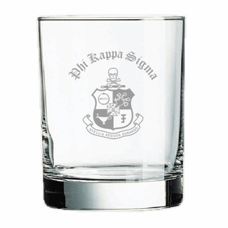 Phi Kappa Sigma Old Style Glass