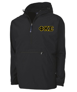 Phi Kappa Sigma Tackle Twill Lettered Pack N Go Pullover