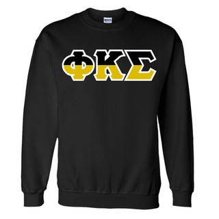 Phi Kappa Sigma Two Tone Greek Lettered Crewneck Sweatshirt
