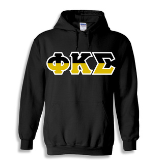 Phi Kappa Sigma Two Tone Greek Lettered Hooded Sweatshirt
