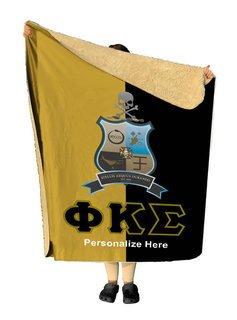 Phi Kappa Sigma Two Tone Sherpa Lap Blanket