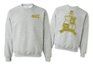 Phi Kappa Sigma World Famous Crest - Shield Printed Crewneck Sweatshirt- $25!