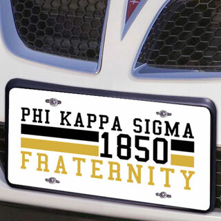 Phi Kappa Sigma Year License Plate Cover
