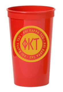 Set of 10 - Phi Kappa Tau Big Ancient Greek Letter Stadium Cup - Clearance!!!