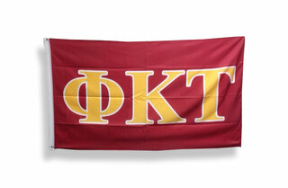 Phi Kappa Tau Big Greek Letter Flag