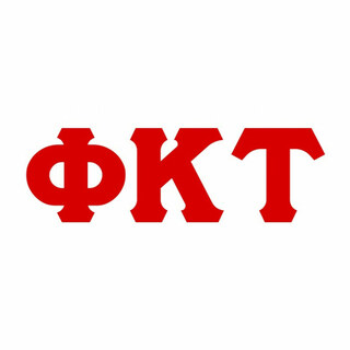 Phi Kappa Tau Big Greek Letter Window Sticker Decal