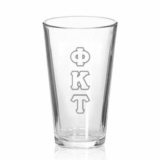 Phi Kappa Tau Big Letter Mixing Glass