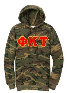 DISCOUNT-Phi Kappa Tau Camo Pullover Hooded Sweatshirt