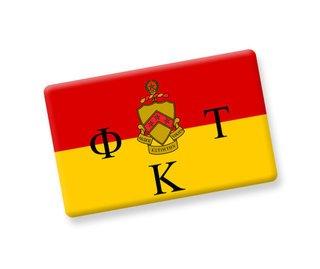 Phi Kappa Tau Ceramic Flag Magnet