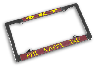 Phi Kappa Tau Chrome License Plate Frames