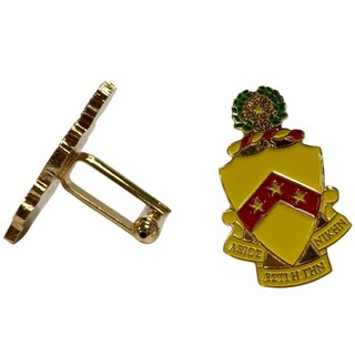 Phi Kappa Tau Color Crest - Shield Cuff links