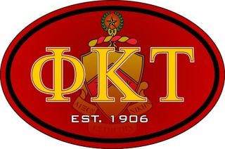 Phi Kappa Tau Color Oval Decal