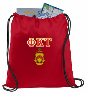 Phi Kappa Tau Crest - Shield Cinch Sack