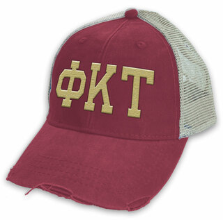 Phi Kappa Tau Distressed Trucker Hat
