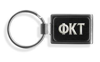 Phi Kappa Tau Engraved Chrome Keychains