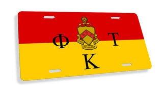 Phi Kappa Tau Flag License Cover