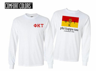 Phi Kappa Tau Flag Long Sleeve T-shirt - Comfort Colors