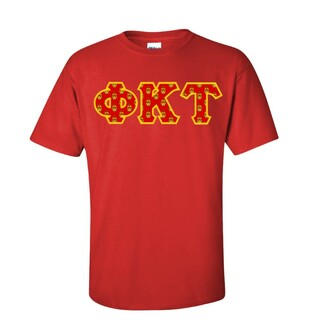 Phi Kappa Tau Fraternity Crest - Shield Twill Letter Tee