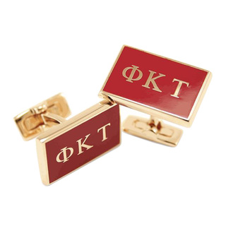 Phi Kappa Tau Gold Plated Flag Cufflinks